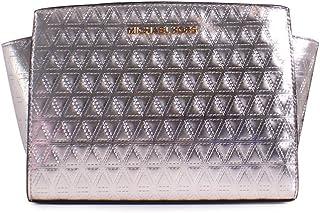 حقيبة يد مايكل كورس سيلما جلدية متوسطة الحجم مبطنة بلون ذهبي فاتح