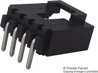 Headers & Wire Housings R/A HEADER 4 PIN SINGLE ROW 30 AU (5 pieces)