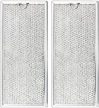Beaquicy WB06X10596 Microwave Grease Filter Aluminum Mesh Filter- Replacement for GE Microwaves - Replaces AP3792368 PS952418 (Pack of 2)