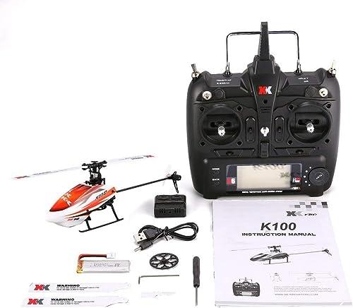 GreatWall XK K110 6CH 3D 6G System Mini Brushless RC Hubschrauber Drohne mit Gyro RTF Orange