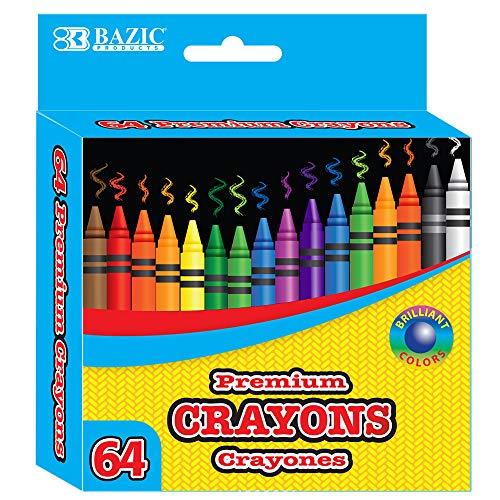BAZIC 64 Ct. Premium Quality Color Crayon