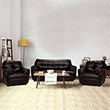 Furny Rosabelle Five Seater Sectional Sofa (Brown)