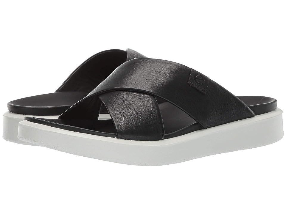 UPC 809704996301 product image for ECCO Flowt LVX Slide (Black Cow Leather) Women's Sandals   upcitemdb.com