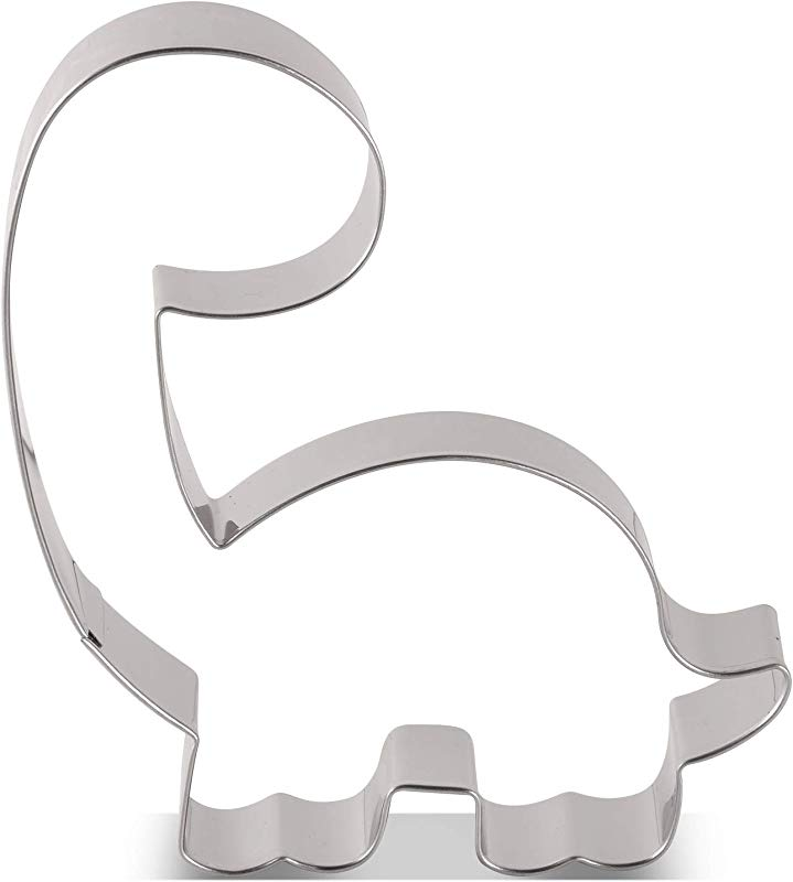 LILIAO Brontosaurus Cookie Cutter Cute Dinosaur Biscuit And Fondant Cutters For Kids 3 7 X 4 1 Inches Stainless Steel
