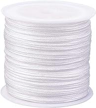 PandaHall ca. 45 m/Rolle 0.8 mm Nylonfaden Nylonschnur Weiße Nylon Schmuckschnur für benutzerdefinierte gewebt Schmuck Machen