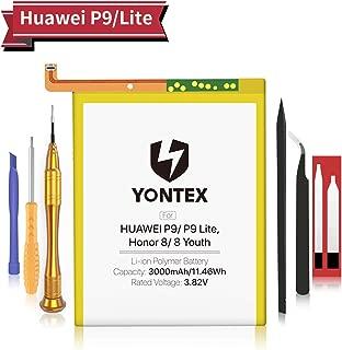 YONTEX Batería para Huawei P9 Honor 8 3000mAh HB366481ECW reemplazo, nueva batería 0 ciclo compatible con Huawei P9/ P9 Lite, Honor 8/8 Youth con Herramientas de reparación y cinta adhesiva