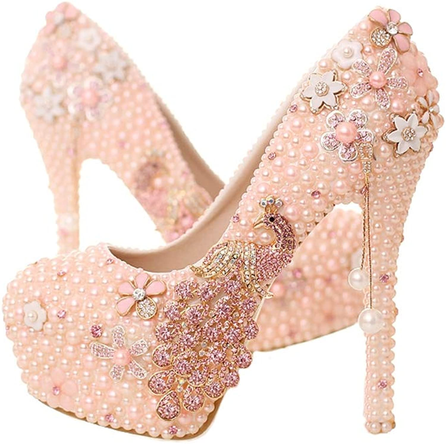 Sparrow Rhinestone Bride shoes Wedding Party shoes Thin Heel Pumps Women High Heels Mother of Bride shoes