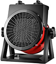 LJ Calefactor Industrial Calefactor Cerámico Profesional con 2 Potencias de Calor, Anti Sobrecalentamiento, Termostato, Portátil, Compacto, Taller, Obras, Invernaderos