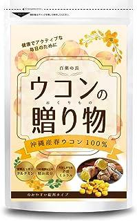 【ウコンの贈り物】 100粒(10日分) 沖縄産春ウコン100% 無農薬 精油成分100種類 クルクミン 天然ミネラル