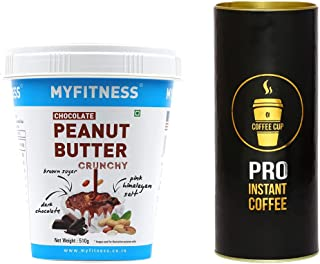 MYFITNESS Chocolate Peanut Butter Crunchy 510g & Coffee Cup Pro Instant Coffee Powder 30g Combo Pack , Combo Offer
