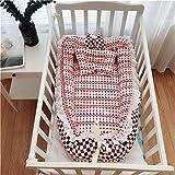 Lorenory Babynest Tragbare Krippe Baby Nest Klappbett Newborns Kinderbetten Kinderschlaf Nest mit Kissen Baby-Wiege Baby-Bassinet Bed Carry Cot (Color : 12)