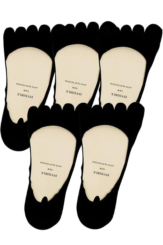 AFROMARKET 5本指靴下 レディース ソックス インビジブルソックス 浅履き フットカバー くるぶしソックス 5足セット