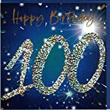 Belly Button Designs hochwertige Glückwunschkarte zum 100. Geburtstag.