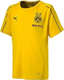 PUMA 2018-2019 Borussia Dortmund Training Football Soccer T-Shirt Jersey (Yellow) - Kids
