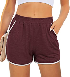 Shorts for Women with Pocket Workout Yoga Running Dolphin Shorts for Gym Exercise