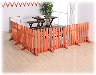 ZHANWEI Wooden Garden Edging Border Fence, No Dig Fence Pickets, Indoor Outdoor Protective Guard Edging Decor (Color : 45x...