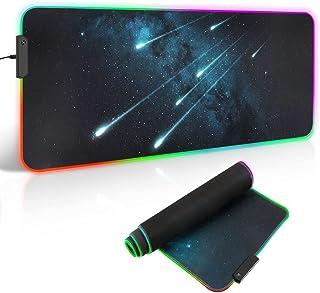 Gaming Mouse Pad ARCHEER RGB LED Mousepsd XXL met antislip gelkussen Muismat 12 verlichtingsmodi Waterdichte grote muismat...