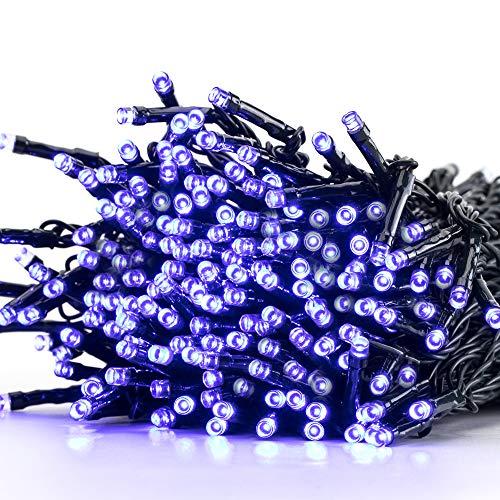 Avoalre Lichterkette Batterie Außen mit Timer, 40m- IP44 wasserfest blau & weiss Batteriebetrieb 8 Programm Lichterkette Memory Funktion,geeignet für Outdoor, Party, Weihnachten, Garten, Hochzeit