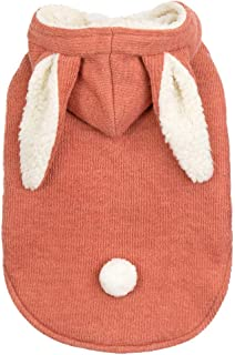TOPBIGGER 2020 New Basic Hoodie for Dog Hoodies Jumpsuit Pet Clothes Pet Dog Warm Coat with Rabbit Ears Jacket Pullover Soft Puppy Outfit Fleece Sweatshirts for Dog Coats