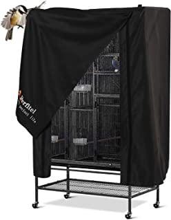 Perfitel Universal Bird Cage Cover(Black) Good Night Birdcage Cover Black-Out Birdcage Cover Durable Breathable Washable M...
