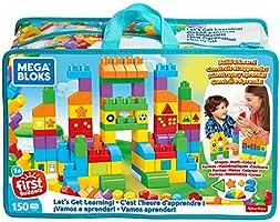 Juguete para Bebés Mega Bloks First Builders Gran Bolsa de Aprendizaje 150 bloques