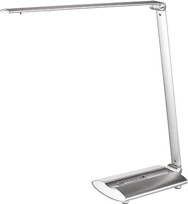 Alco Lámpara de mesa LED, aprox. 42 cm, plateado, plata, 46.5 x 16.5 x 9 cm