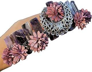 WANBAO Beautiful Crown Bridal Bridal Crystal Crystal Headband, Corona Boho Handmade Metallo Dragonfly Floral Tiara Capelli...