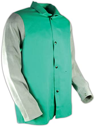 Magid SparkGuard Flame Resistant 12 oz 2 Jackets Large Green Cotton Jacket 30