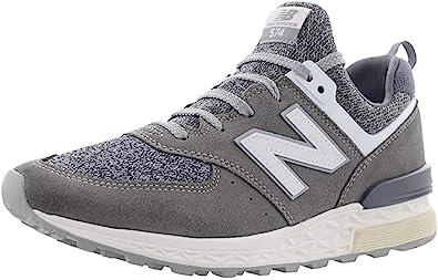 Amazon.com | New Balance Men's 574 Sport Grey/White Ms574bg ...