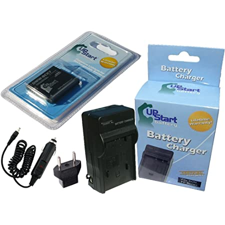 Replacement for Panasonic Lumix DMC-LX1-S Battery and Charger with Car Plug and EU Adapter Compatible with Panasonic CGA-S005 Digital Camera Batteries and Chargers 2150mAh 3.7V Lithium-Ion