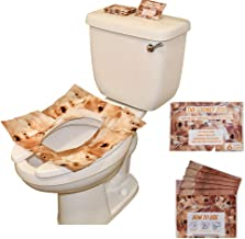 Toilet Seat Covers - Disposable Potty Seat Cover Sheets, Bio-Degradable, Individually Wrapped - Fits any Toilet Seat (Orange)