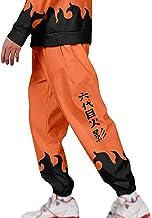 Unisex Anime Naruto Overalls Akatsuki Joggingbroek Grappige Cartoon Harembroek Naruto Uzumaki Broek met Twee Zijvak