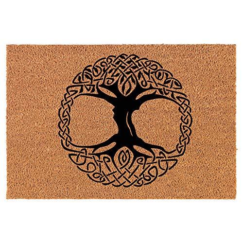 Coir Doormat Front Door Mat New Home Closing Housewarming Gift Celtic Tree of Life Irish (30' x 18' Standard)