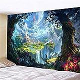 KHKJ Tapiz Manta de Pared decoración del hogar Seta Tapiz psicodélico Mural paño de Pared decoración del hogar A4 200x180cm