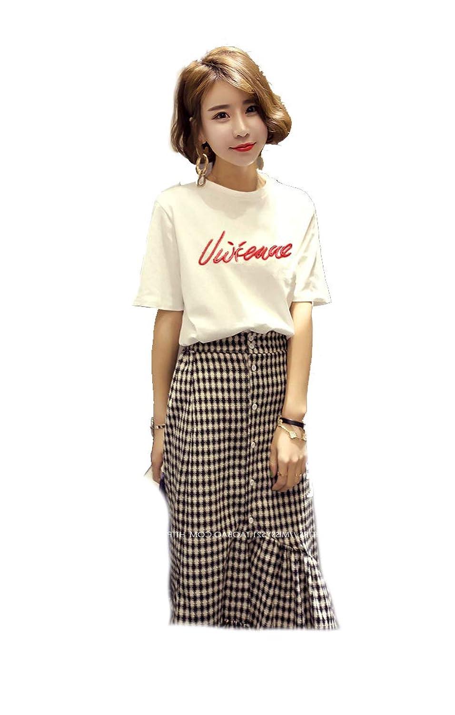 レディース 服 Tシャツ カットソー プリントTシャツファッション 女性 サイズ カラー ブラック ホワイト M,L 8132