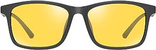 HUNAKU Night Vision Glasses Ultralight Frame Anti-Glare Anti-Ultraviolet Polarized Driving Glasses Night Vision Outdoor Gl...