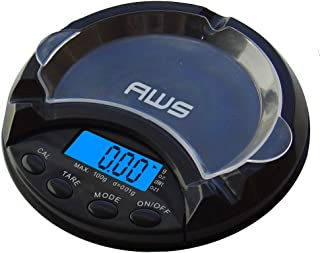 American Weigh Scales AT Series Ashtray Scale, Black, 100 X 0.01 G (ATS-100-PL)