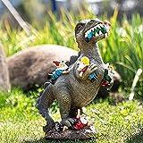 Ysimee Gartenzwerg Dinosaurier 5/30 cm, Gartenzwerg lustig Außenstatuen Gartendekoration, Dino Yard-Skulptur, Harzstatuen-Dekoration Ornamente Kreative Rasen- und Gartendekoration