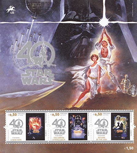 Portugal Star Wars 40th Anniversary Collectible Postage Stamps Souvenir Sheet