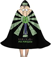 Mr Mackey Retro Japanese South Park Unisex Kids Hooded Cloak Cape Halloween Xmas Party Decoration Role Cosplay Costumes Black