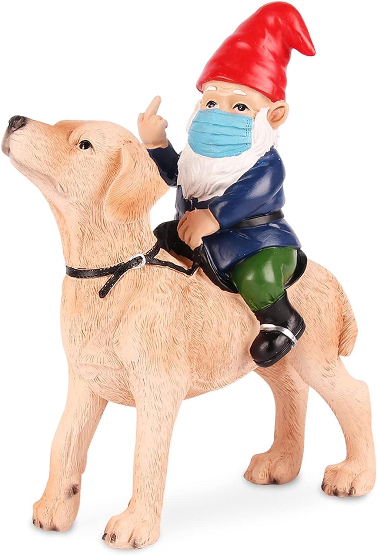 Garden Gnome - Funny Gnome Statue Outdoor/Indoor Decor - Labrador Dog Gnome Statue Sculpture for Patio Yard Lawn Porch, Garden Ornament Gift