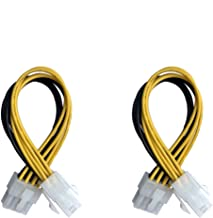 OOMIAK 2 Pack 4-Pin Female to 8-Pin Male ATX EPS 12V Motherboard CPU Power Supply P4 Converter Cable - 8inch