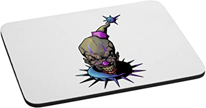 Purple and Blue Fun, Frightening, and Evil Clown Computer Mouse Pad