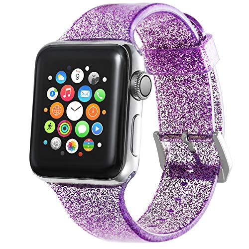 Libra Gemini Replacement Sport Bling Silicone Apple Watch Band for Apple Watch 38mm 40mm Series4/3/2/1