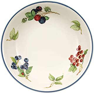 Villeroy & Boch 1011152695 Cottage Pasta Bowl, 9 in, White/Colorful