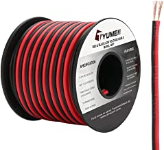 TYUMEN 40FT 18 Gauge 2pin 2 Color Red Black Cable Hookup Electrical Wire LED Strips..