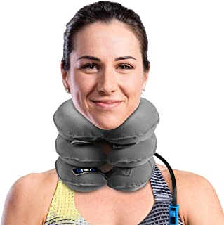 Best Cervical Neck Traction Device & Collar Brace by BRANFIT, FDA Approved Inflatable & Adjustable USA Designed Neck Support & Stretcher is Ideal for Spine Alignment & Chronic Neck Pain Relief