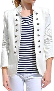 maweisong 女性ダブルブレストファッションスリムフィットオフィスブレザーコートジャケット
