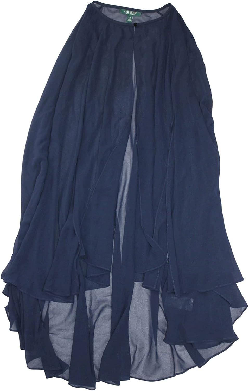 Lauren by Ralph Lauren Womens 41381 Loose Fit Shrug, Navy Blue, Size Large