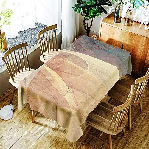 XXDD Mantel de línea Retro Simple Creativo para niños Colorido Vista Colorida cómodo Mantel Impermeable A6 135x200cm